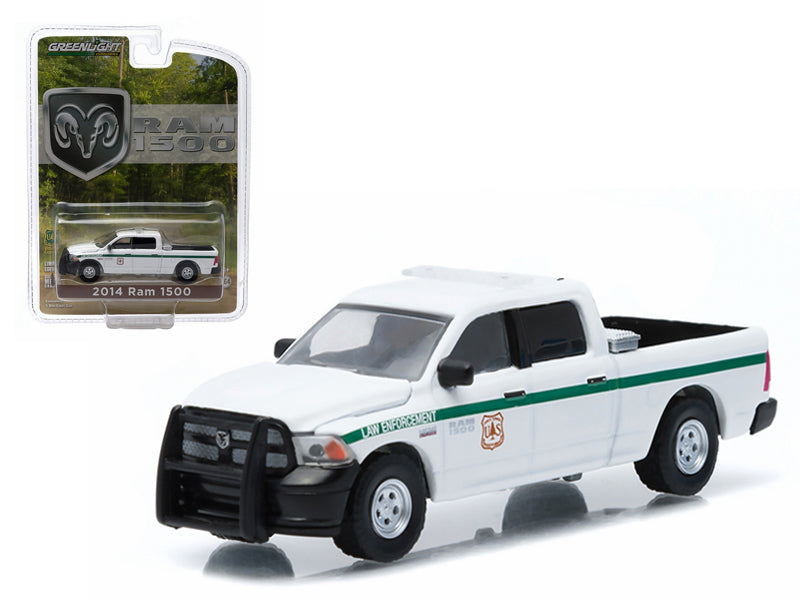 "2014 Dodge Ram 1500 United States Forest Service Police (USFS) \Hobby Exclusive"" 1/64 Diecast Model by Greenlight"" - BeTovi&co"