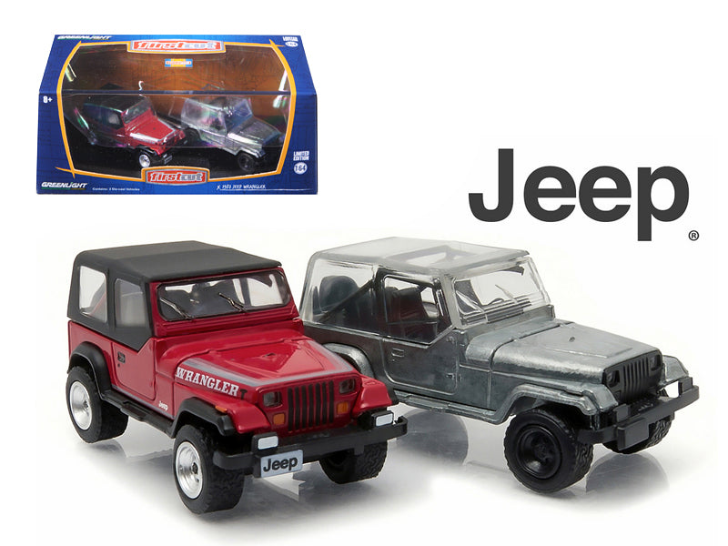 1987-95 Jeep Wrangler YJ Hobby Only Exclusive 2 Cars Set 1/64 Diecast Model Cars by Greenlight - BeTovi&co