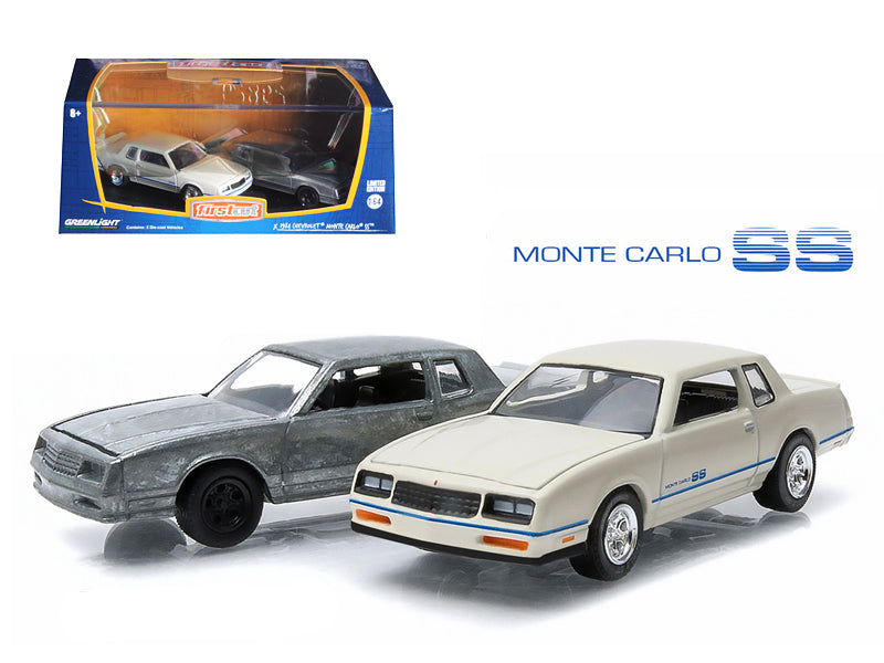 First Cut 1981-84 Chevrolet Monte Carlo SS Hobby Only Exclusive 2 Cars Set 1/64 Diecast Model Cars by Greenlight - BeTovi&co