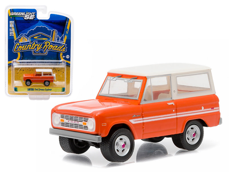 "1976 Ford Bronco Orange \Explorer Package"" Country Roads Series 14 1/64 Diecast Model Car by Greenlight"" - BeTovi&co"