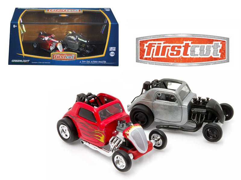 First Cut Topo Fuel Altered Hobby Only Exclusive 2 Cars Set 1/64 Diecast Model Cars by Greenlight - BeTovi&co