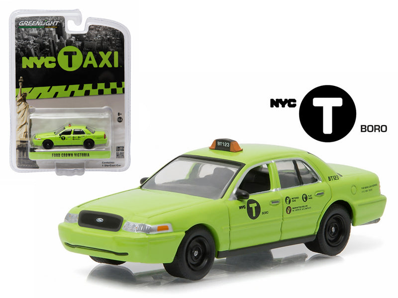 2011 Ford Crown Victoria NYC New York City Boro Taxi Hobby Exclusive 1/64 Diecast Model Car by Greenlight - BeTovi&co