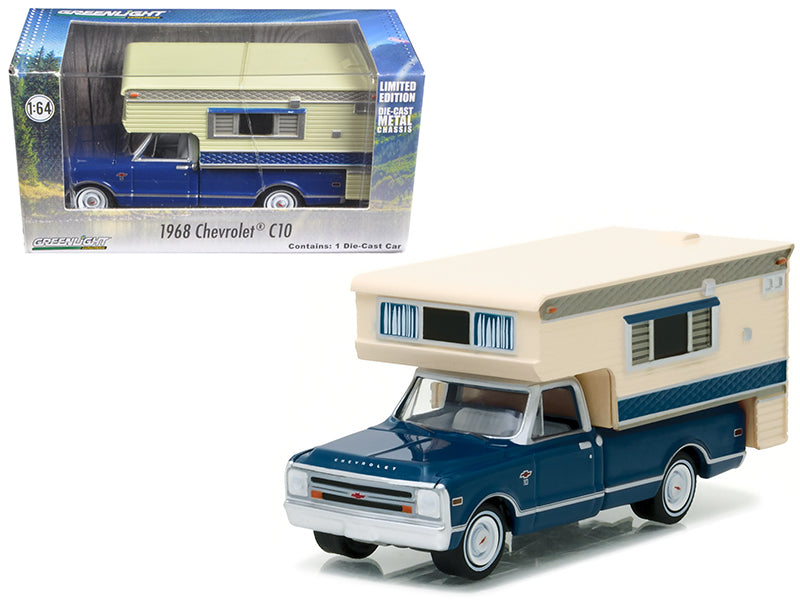 1968 Chevrolet C10 Cheyenne with Large Camper Hobby Exclusive 1/64 - BeTovi&co