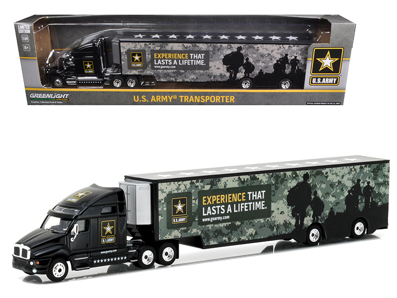 Kenworth T2000 Hauler U.S. Army Hobby Exclusive 1/64 Diecast Model Car by Greenlight - BeTovi&co