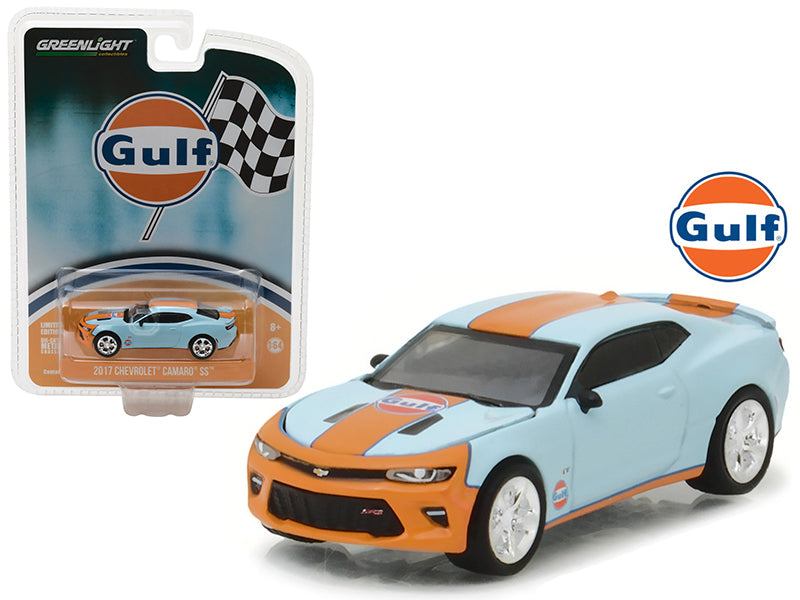 2017 Chevrolet Camaro SS Gulf Oil Hobby Exclusive 1/64 Diecast Model Car by Greenlight - BeTovi&co