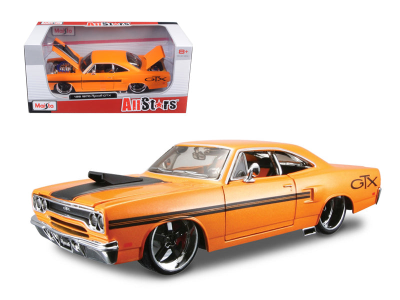 1970 Plymouth GTX Orange Custom 1/24 Diecast Car Model by Maisto - BeTovi&co