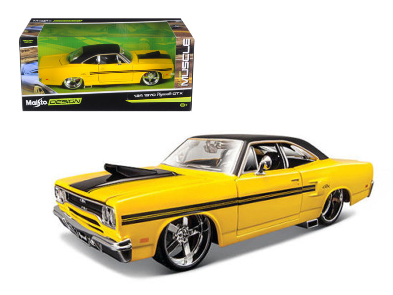 "1970 Plymouth GTX Yellow \Classic Muscle"" 1/24 Diecast Model Car by Maisto"" - BeTovi&co"