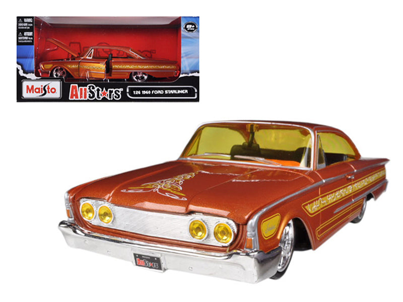 "1960 Ford Starliner Orange \All Stars"" 1/26 Diecast Model Car by Maisto"" - BeTovi&co"
