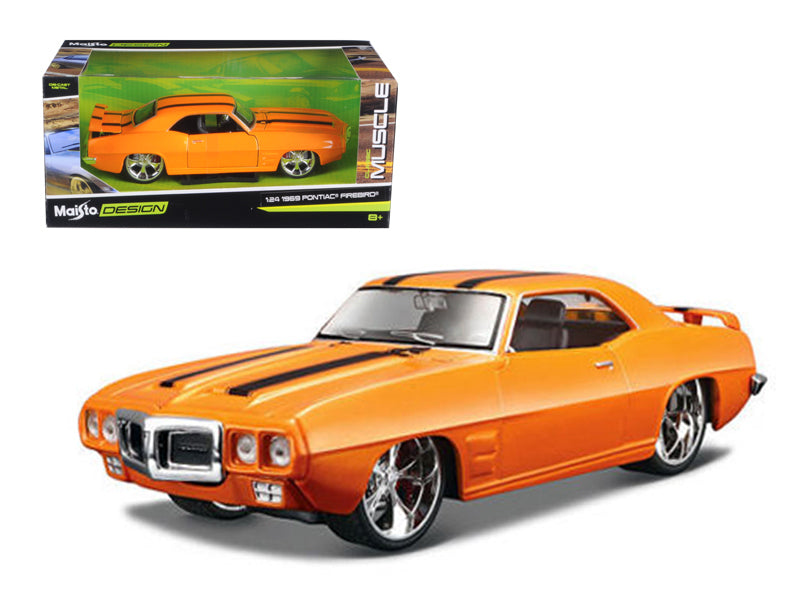 "1969 Pontiac Firebird Orange \Classic Muscle"" 1/24 Diecast Model Car by Maisto"" - BeTovi&co"