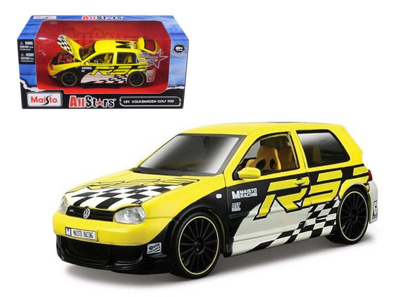 "Volkswagen Golf R32 Yellow \All Stars"" 1/24 Diecast Model Car by Maisto"" - BeTovi&co"