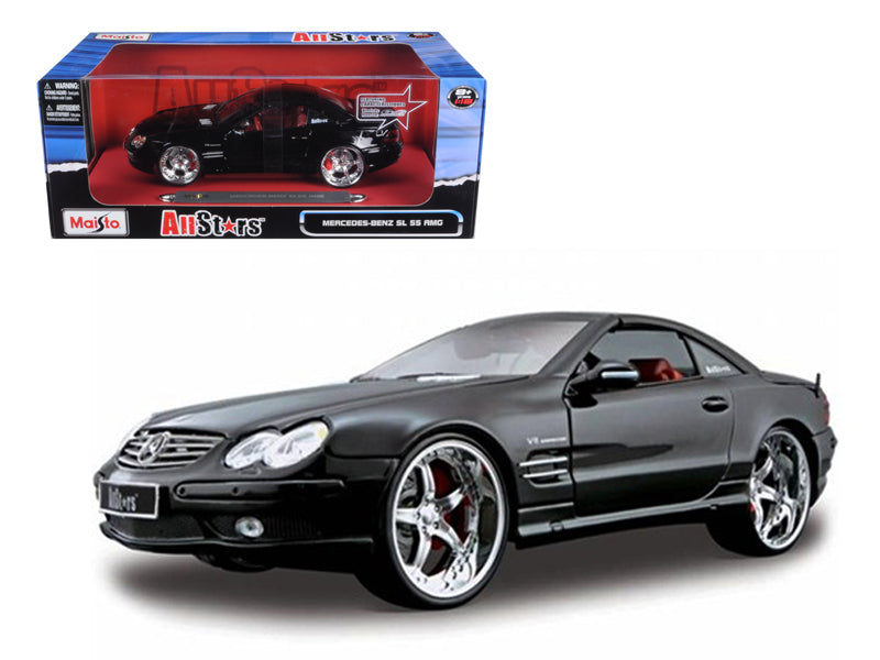 "Mercedes SL 55 AMG \All Stars"" Black 1/18 Diecast Model Car by Maisto"" - BeTovi&co"