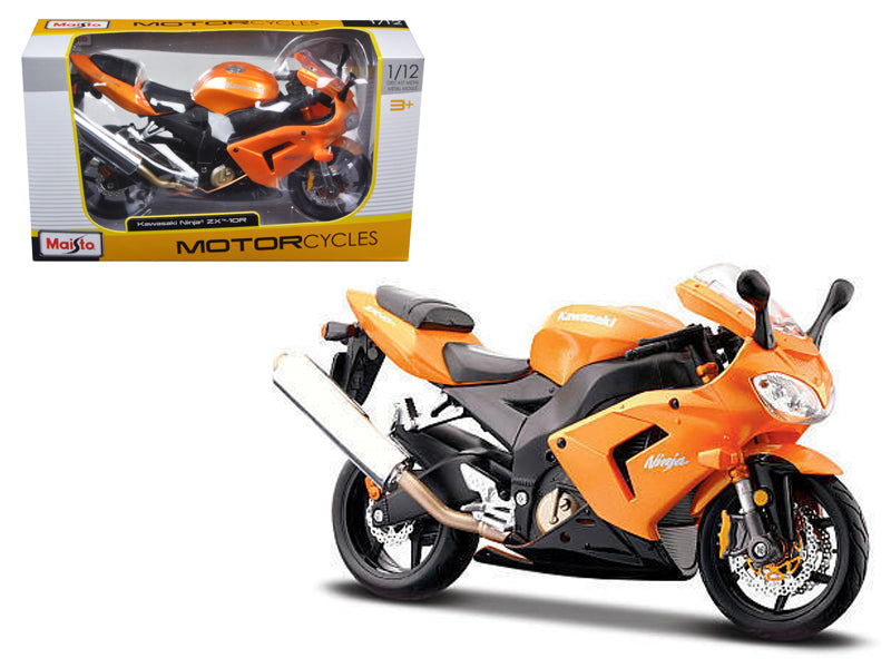 Kawasaki Ninja ZX 10R Orange Motorcycle 1/12 Diecast Model by Maisto - BeTovi&co