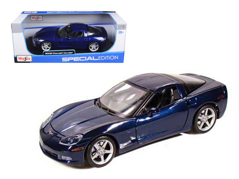 2005 Chevrolet Corvette C6 Coupe Blue 1/18 Diecast Model Car by Maisto - BeTovi&co
