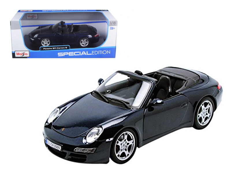 Porsche 911 997 Carrera S Blue Cabriolet 1/18 Diecast Model Car by Maisto - BeTovi&co