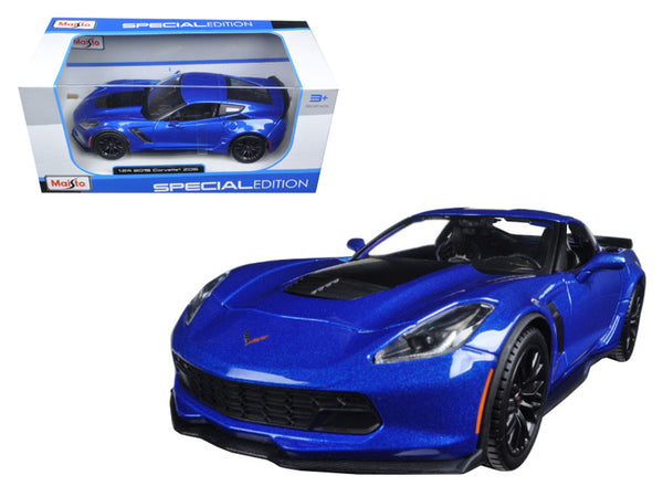 2015 Chevrolet Corvette Stingray C7 Z06 Blue 1/24 Diecast Model Car by Maisto - BeTovi&co