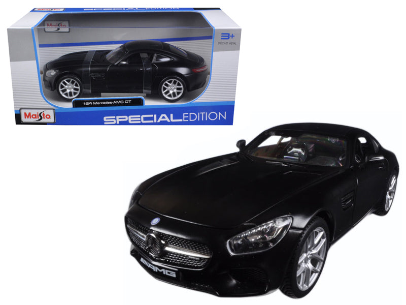 Mercedes AMG GT Matt Black 1/24 Diecast Model Car by Maisto - BeTovi&co