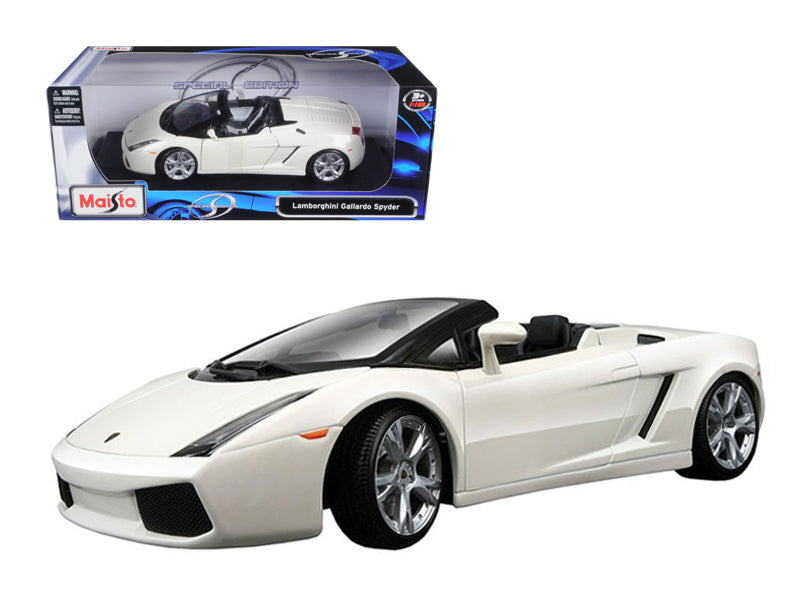 Lamborghini Gallardo Spyder White 1/18 Diecast Model Car by Maisto - BeTovi&co