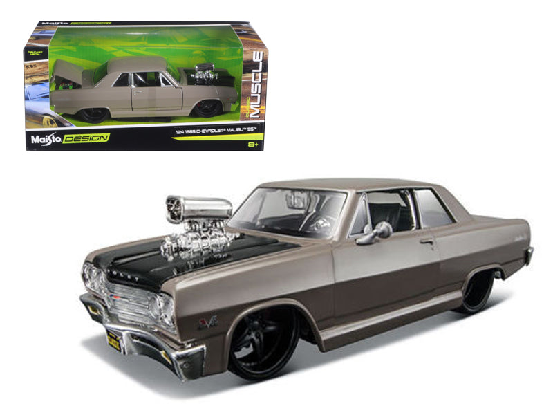 "1965 Chevrolet Malibu SS Grey \Classic Muscle"" 1/24 Diecast Model Car by Maisto"" - BeTovi&co"
