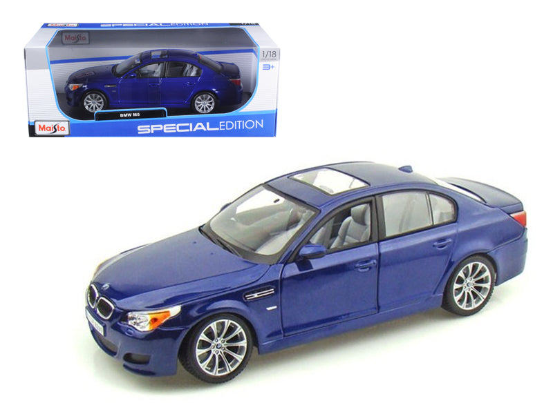 BMW M5 Blue 1/18 Diecast Model Car by Maisto - BeTovi&co