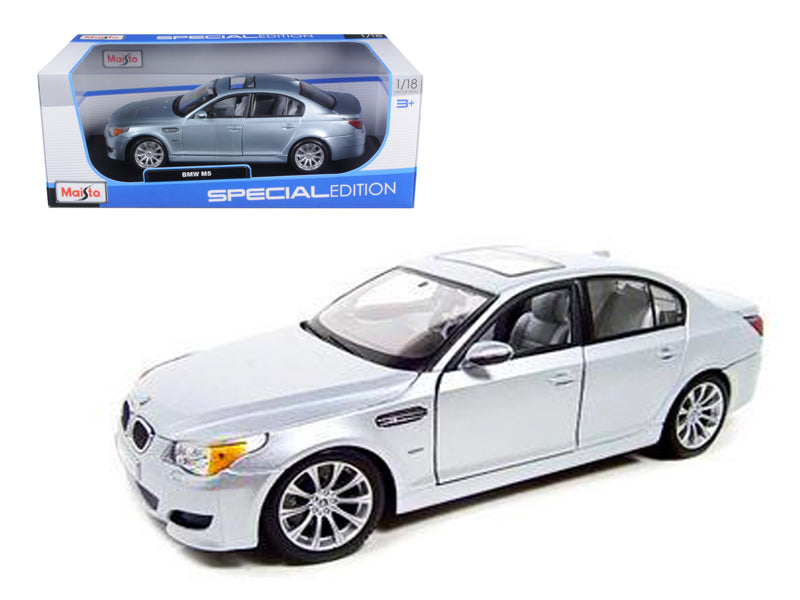 BMW M5 Diecast Model Silver 1/18 Die Cast Car By Maisto - BeTovi&co