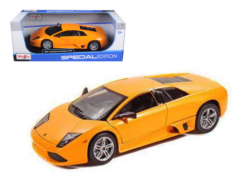 2007 Lamborghini Murcielago LP640 Orange 1/18 Diecast Model Car by Maisto - BeTovi&co