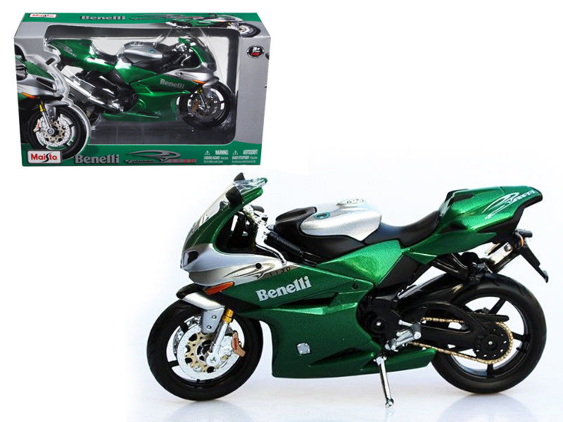 Benelli Tornado Tre 1130 Green/Silver Motorcycle 1/12 Diecast Model by Maisto - BeTovi&co