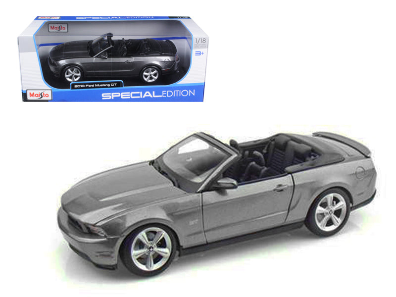 2010 Ford Mustang GT Convertible Gray 1/18 Diecast Model Car by Maisto - BeTovi&co