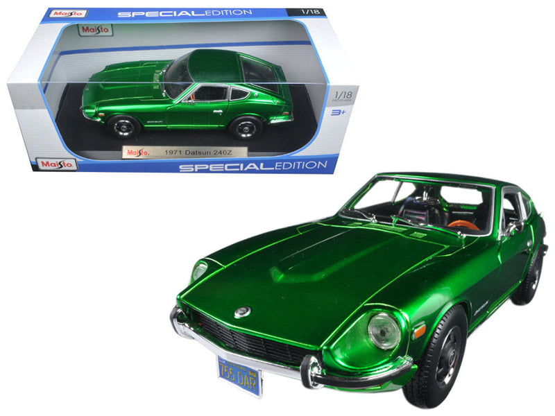 1971 Datsun 240z Green 1/18 Diecast Model Car by Maisto - BeTovi&co
