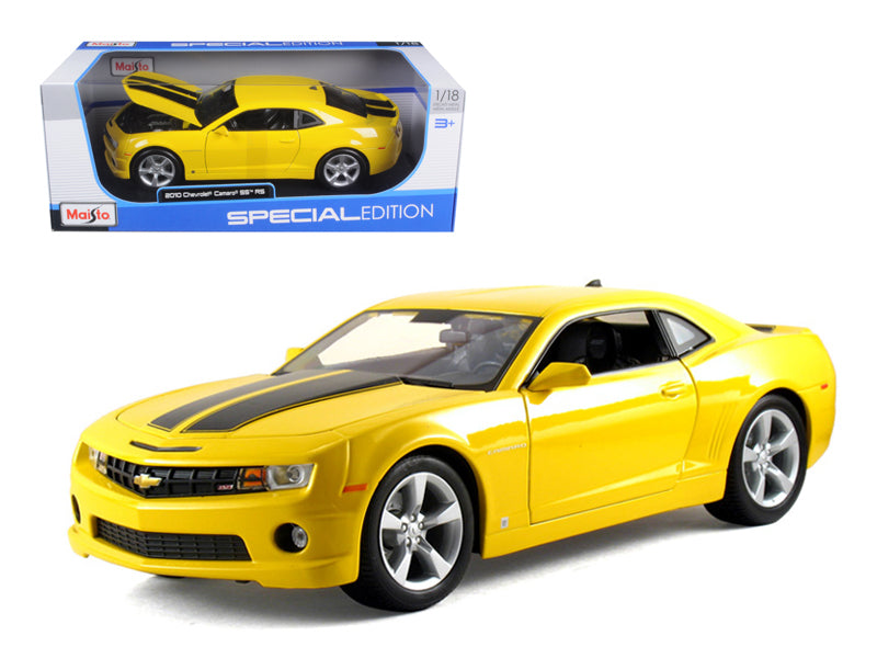 2010 Chevrolet Camaro SS RS Yellow 1/18 Diecast Model Car by Maisto - BeTovi&co