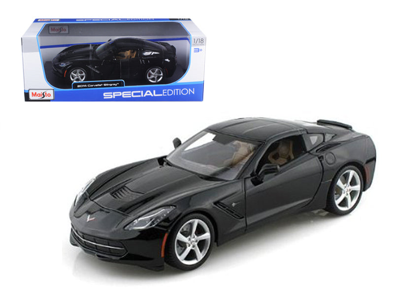 2014 Chevrolet Corvette C7 Stingray Black 1/18 Diecast Model Car by Maisto - BeTovi&co