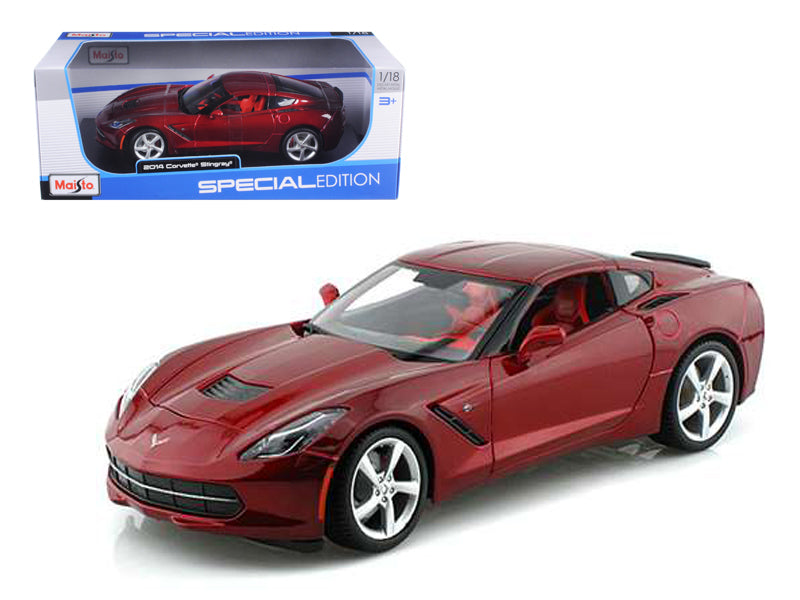 2014 Chevrolet Corvette C7 Stingray Metallic Red 1/18 Diecast Model Car by Maisto - BeTovi&co