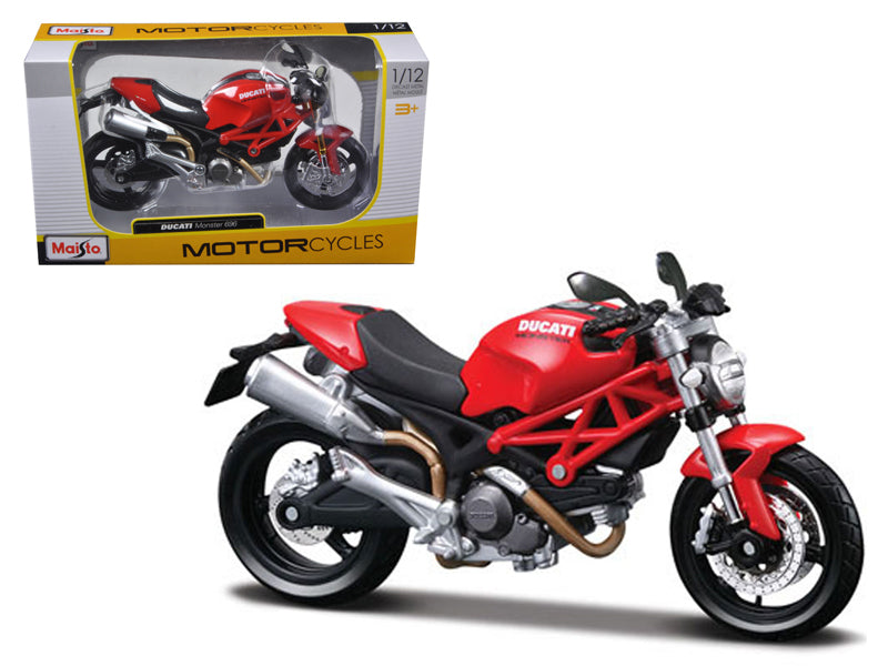 Ducati Monster 696 Red Motorcycle 1/12 Diecast Model by Maisto - BeTovi&co