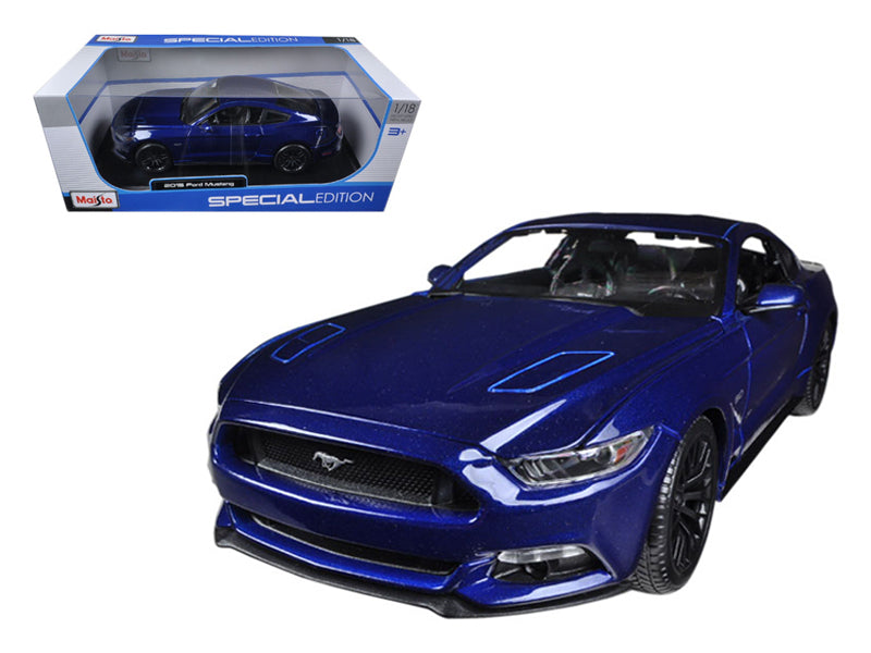 2015 Ford Mustang GT 5.0 Blue 1/18 Diecast Car Model by Maisto - BeTovi&co