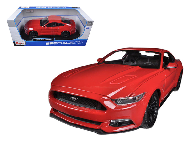 2015 Ford Mustang GT 5.0 Red 1/18 Diecast Car Model by Maisto - BeTovi&co