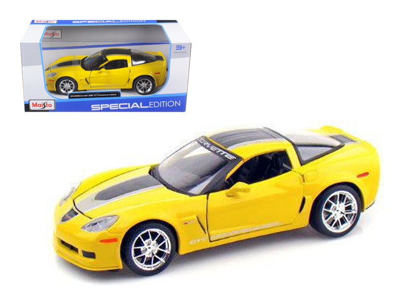 2009 Chevrolet Corvette C6 Z06 GT1 Yellow Commemorative Edition 1/24 Diecast Model Car by Maisto - BeTovi&co