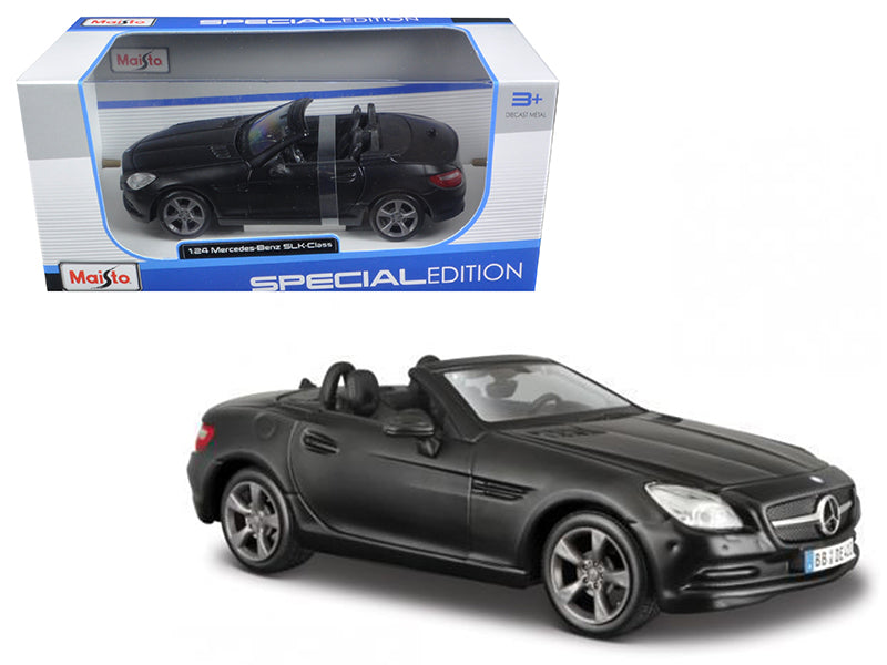 2011 2012 Mercedes SLK Class Convertible Matt Black 1/24 Diecast Model Car by Maisto - BeTovi&co