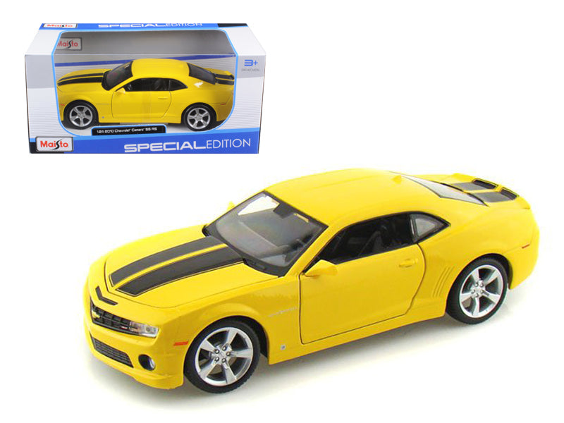 2010 Chevrolet Camaro RS SS Yellow 1/24 Diecast Model Car by Maisto - BeTovi&co