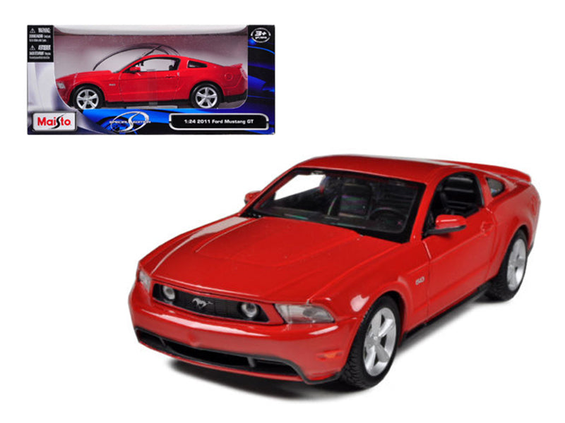 2011 Ford Mustang GT Red 1/24 Diecast Model Car by Maisto - BeTovi&co