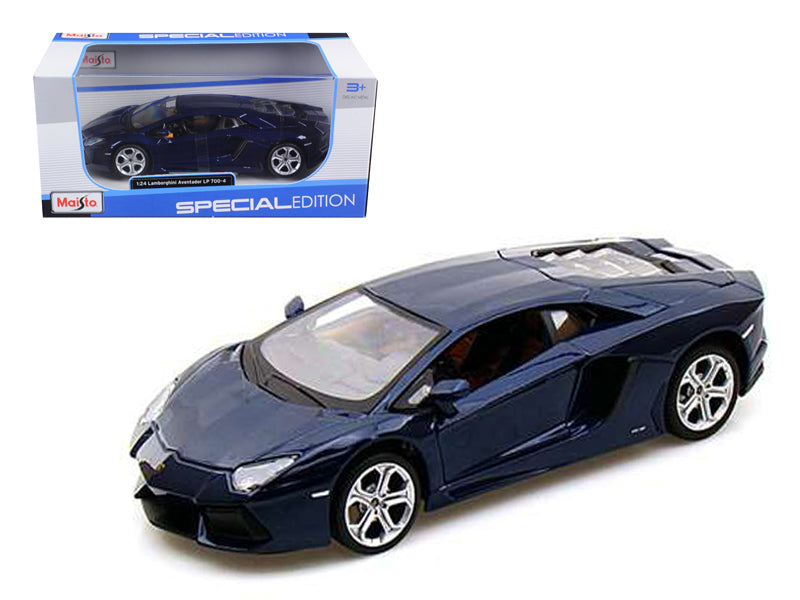 2011 2012 Lamborghini Aventador LP700-4 Blue 1/24 Diecast Model Car by Maisto - BeTovi&co