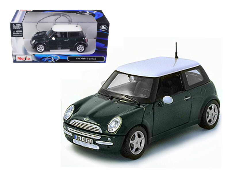 Mini Cooper Green 1/24 Diecast Model Car by Maisto - BeTovi&co