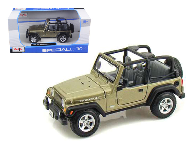 Jeep Wrangler Rubicon Diecast Car Model Khaki 1/27 Diecast Model Car by Maisto - BeTovi&co