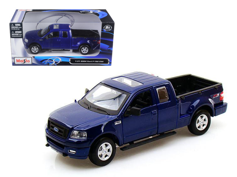 2004 Ford F-150 FX4 Pickup Truck Metallic Blue 1/31 Diecast Model by Maisto - BeTovi&co