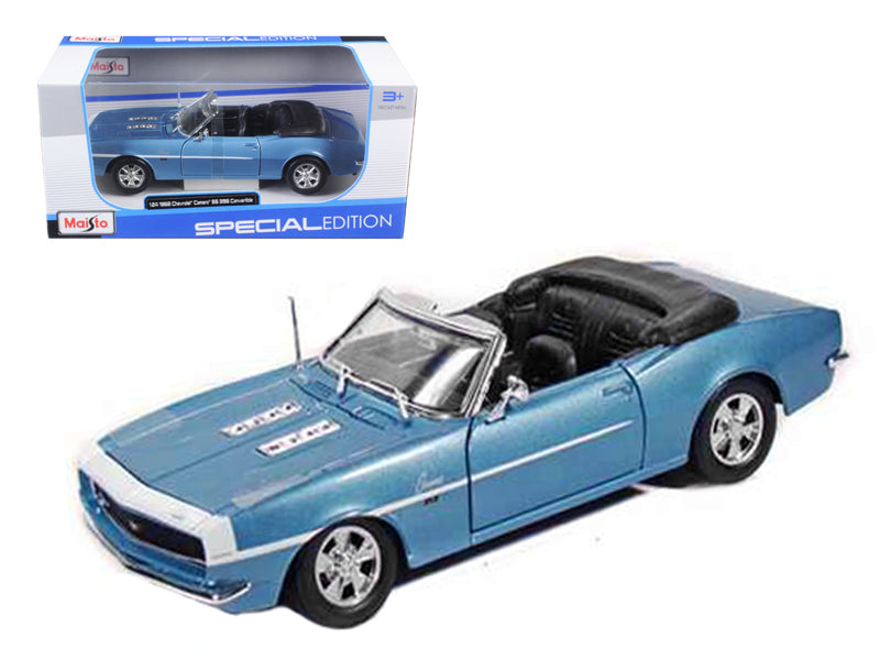 1968 Chevrolet Camaro SS 396 Blue 1/24 Convertible Diecast Model Car by Maisto - BeTovi&co