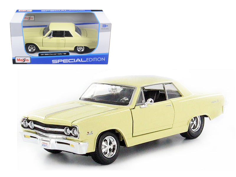 1965 Chevrolet Malibu SS Yellow 1/24 Diecast Model Car by Maisto - BeTovi&co