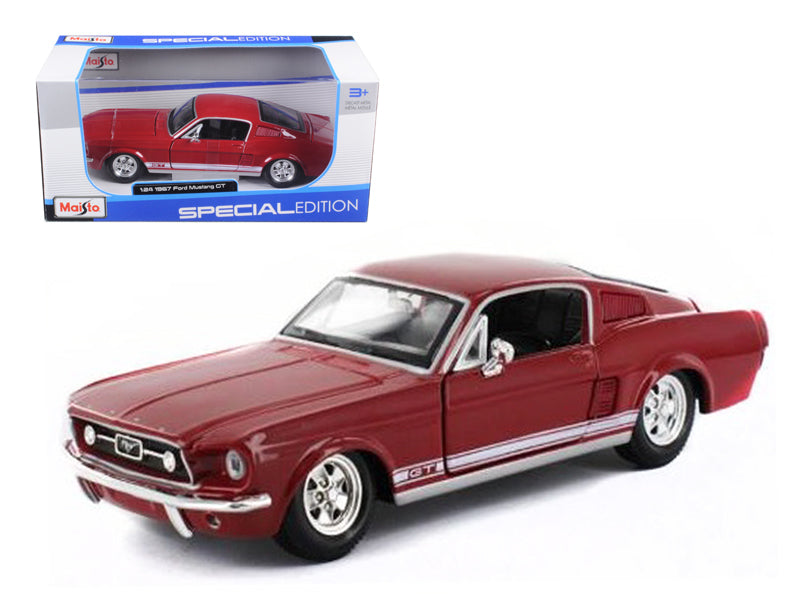 1967 Ford Mustang GT Red 1/24 Diecast Model Car by Maisto - BeTovi&co