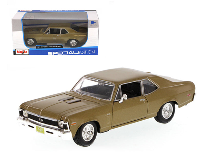 1970 Chevrolet Nova SS Gold 1/24 Diecast Model Car by Maisto
