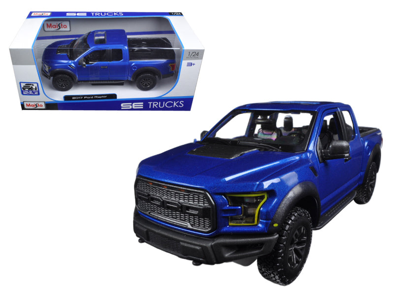 2017 Ford Raptor Pickup Truck Blue 1/24 Diecast Model Car by Maisto - BeTovi&co