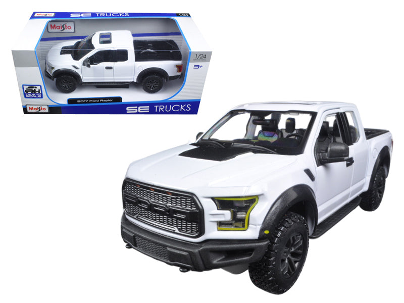 2017 Ford Raptor Pickup Truck White 1/24 Diecast Model Car by Maisto - BeTovi&co
