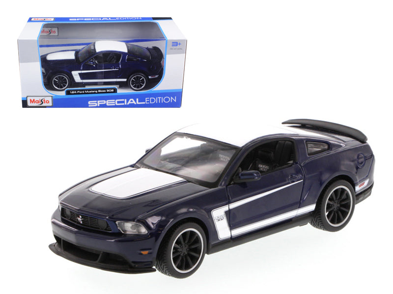 2011 Ford Mustang Boss 302 Blue 1/24 Diecast Model Car by Maisto