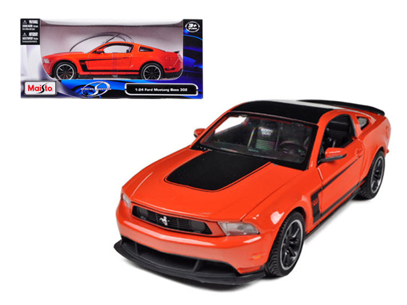 2011 Ford Mustang Boss 302 Orange 1/24 Diecast Model Car by Maisto
